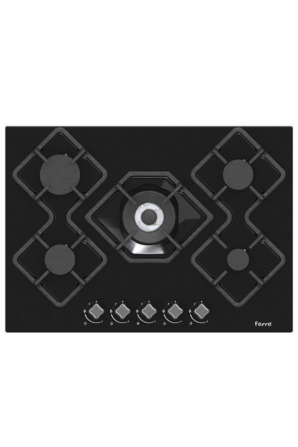 KARAD BLACK 70CM GLASS 5 FEUX « CUIS.KA012B