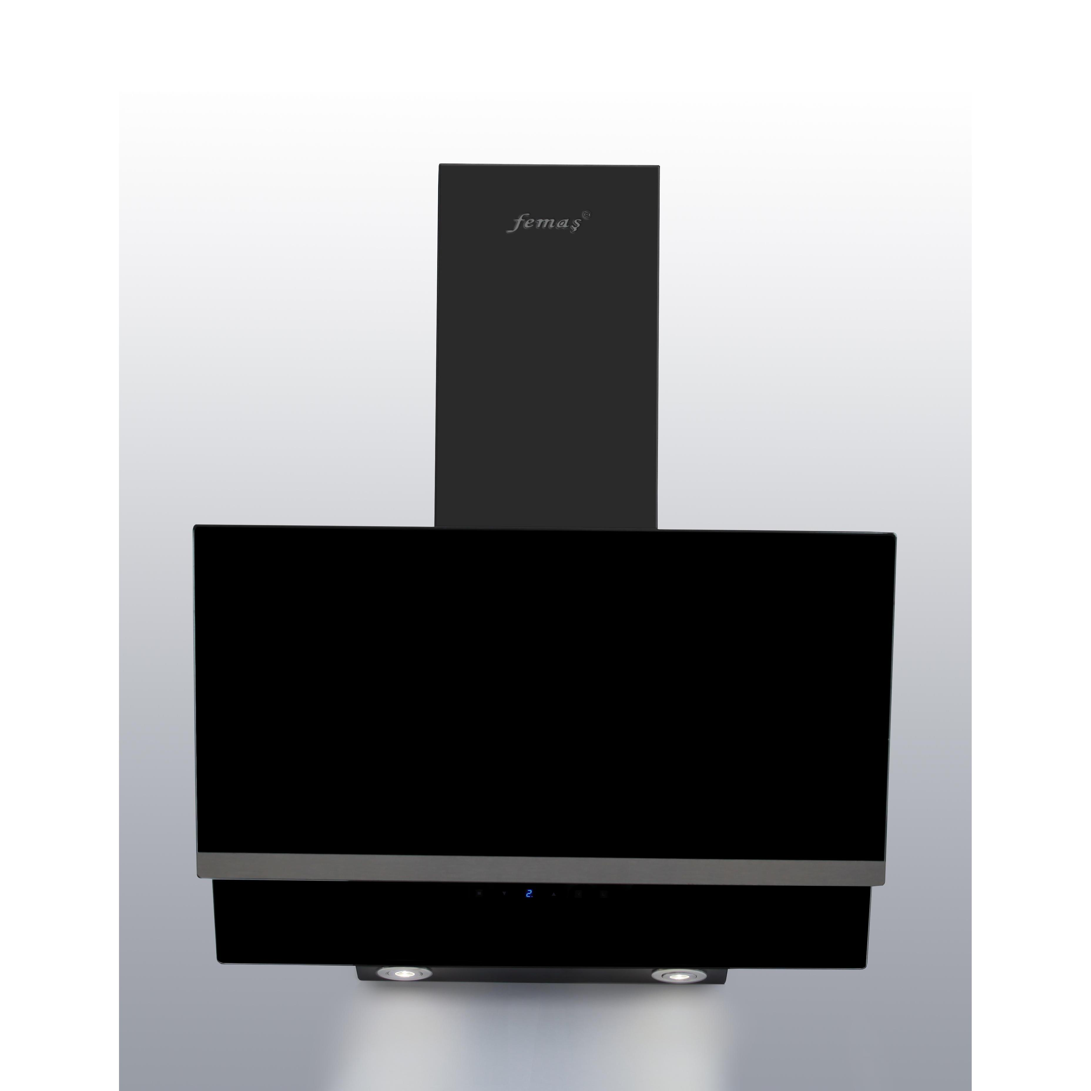 hotte aspirante vitre noir 60 cm sim. Black Bedroom Furniture Sets. Home Design Ideas